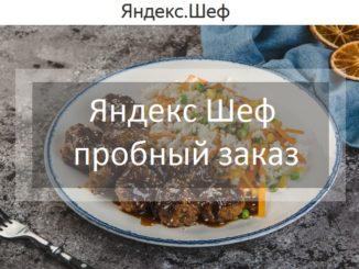 Яндекс Шеф пробный заказ