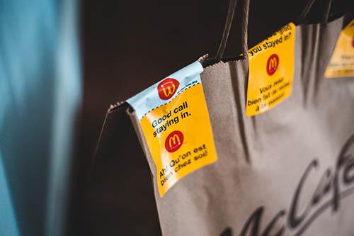 Доставка из Макдональдса через Яндекс Еду